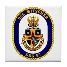 USS Mitscher DDG 57 Tile Coaster