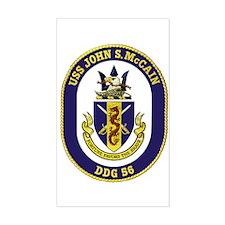 USS John S. McCain DDG 56 Rectangle Decal