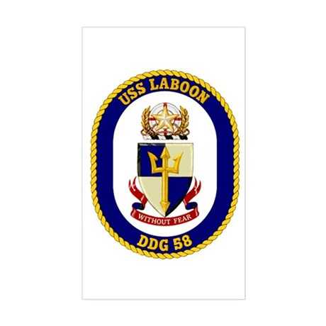 USS Laboon DDG 58 Rectangle Sticker