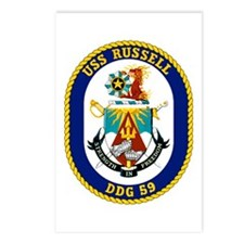 USS Russell DDG 59 Postcards (Package of 8)