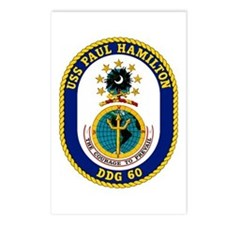 USS Paul Hamilton DDG 60 Postcards (Package of 8)