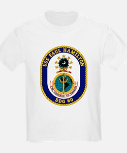 USS Paul Hamilton DDG 60 Kids T-Shirt