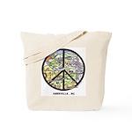 Super Groovy Asheville Peace Sign Art Tote Bag