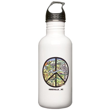 Awesome Asheville Art Stainless Water Bottle 1.0L