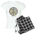 Awesome Asheville , Nc Peace Art Women's Pajamas