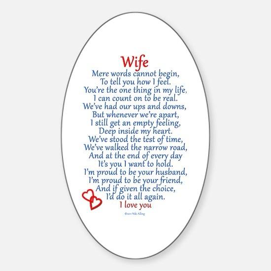 Wife Love Sticker (Oval)