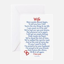 Wife Love Greeting Card
