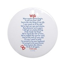 Wife Love Ornament (Round)