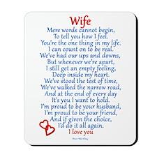 Wife Love Mousepad
