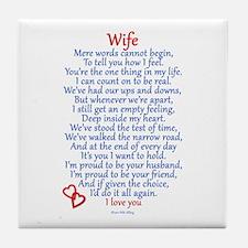 Wife Love Tile Coaster