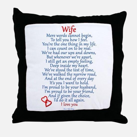 Wife Love Throw Pillow