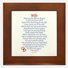 Wife Love Framed Tile