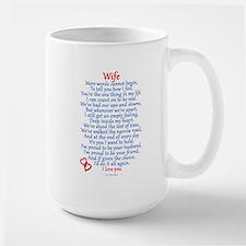 Wife Love Large Mug
