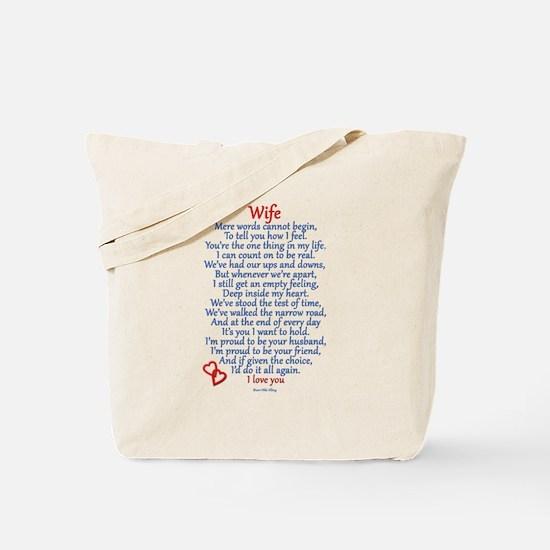 Wife Love Tote Bag