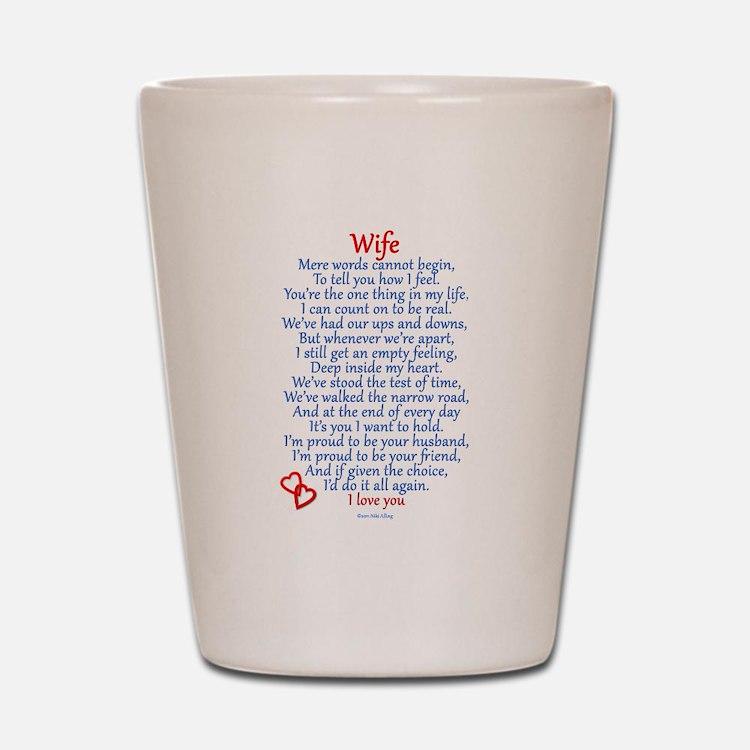 Wife Love Shot Glass