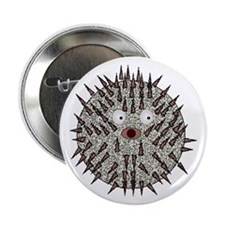 """Blow Fish 2.25"""" Button"""
