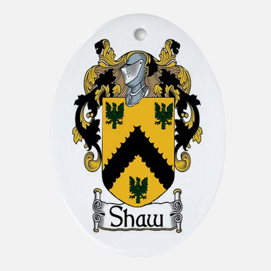Shaw Coat of Arms Oval Ornament