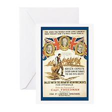 Vintage Jewish British-Canada Blank Cards (10pk