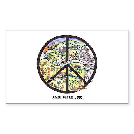Hip Cool Asheville , Nc Sticker rectangle