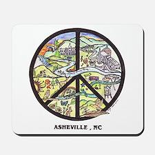Peace Asheville Mousepad