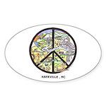 Peace Asheville Oval Sticker