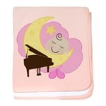 Piano Sleeping Baby Music baby blanket