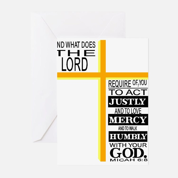 The Lord's Requirements Greeting Cards