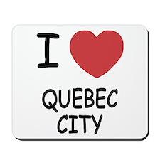 I heart quebec city Mousepad