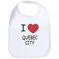 I heart quebec city Bib
