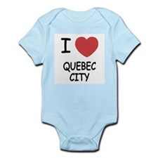 I heart quebec city Infant Bodysuit