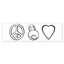 peace, love. mama milk Bumper Bumper Sticker