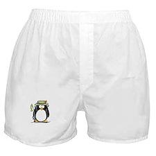 Fishing penguin Boxer Shorts