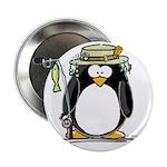 Fishing penguin Button