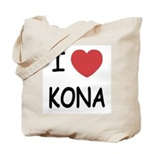 I heart kona Tote Bag