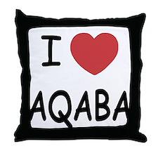 I heart aqaba Throw Pillow