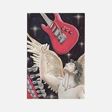 Guitar Rock Angel Rectangle Magnet