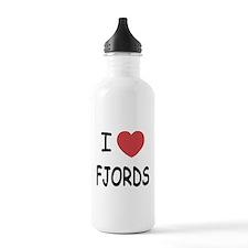 I heart fjords Water Bottle