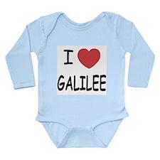 I heart galilee Long Sleeve Infant Bodysuit