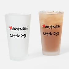 I heart Australian Cattle Dogs Drinking Glass