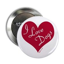 I Love Dogs Button