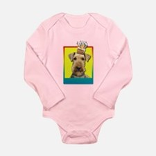 Birthday Cupcake - Airedale Long Sleeve Infant Bod