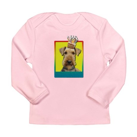 Birthday Cupcake - Airedale Long Sleeve Infant T-S