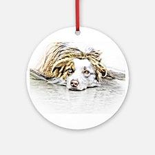 AUSTRALIAN SHEPHERD - DOG Ornament (Round)