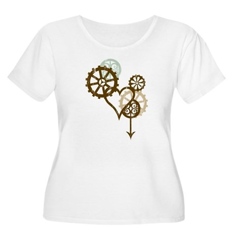 Steampunk Love Women's Plus Size Scoop Neck T-Shir