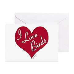 I Love Birds Greeting Cards (Pk of 10)