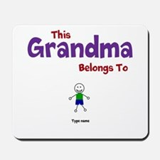 This Grandma Belongs 1 One Mousepad