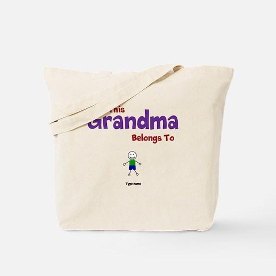 This Grandma Belongs 1 One Tote Bag