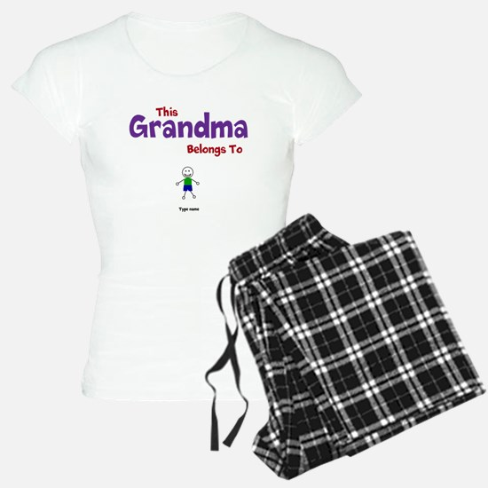 This Grandma Belongs 1 One Pajamas