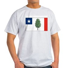 Mississippi Magnolia Flag Grey T-Shirt