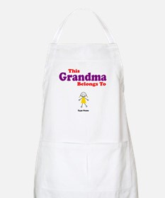 This Grandma Belongs Granddau Apron